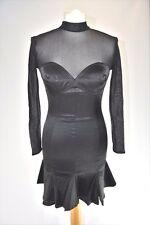 TARLAZZI Black Satin Cocktail Dress, F 38 D 36 UK 10