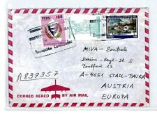 CM151 PERU Cover 1979 *ANCASH* MISSIONARY CACHET Air Mail MIVA Austria