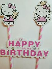 Hello kitty Birthday Cake Topper Decoration Party Supplies.