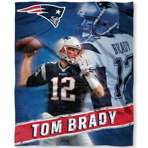 New England Patriots Tom Brady Northwest Silk Touch Throw 50 x 60