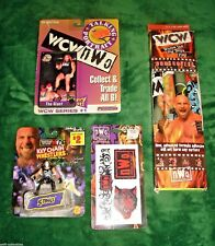 RARE WCW/NWO WRESTLING LOT STING KEYCHAIN,BOOKCOVERS,TATTOOS,TALKING PORTRAIT