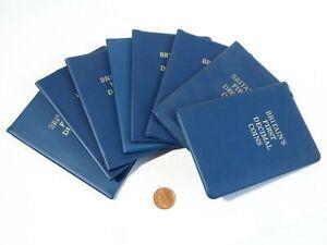 1968-1971 Britain's First Decimal 5 Coins Set in Wallet 1/2p 1p 2p 5p 10p #DC1