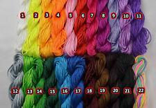 22PCS 1mm Nylon Macrame Chinese Knotting Cord Shamballa Ratail Thread String
