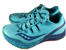 Saucony Everun Freedom ISO Womens Size 6 Blue Lace Up Running Shoes
