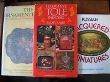 3 BOOKS ON RUSSIAN LAQUERED MINIATURES ORNAMENTED TRAYS DECORATIVE TOLE PAINTING
