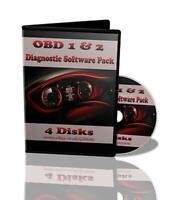 OBD 1 & 2 Diagnostic Software ECU Remapping/Tuning BHP Car Faults ELM327 4 Discs