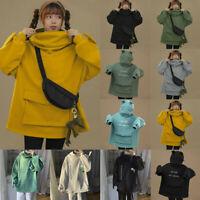 Women Autumn Thick Loose Sweatshirt Harajuku Frog Casual Hooded Hoodie Pullover&
