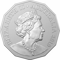 1 x Australia UNC Coin 2019 50c Cent Jody Clark JC Effigy UNC RAM Bag