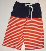 Mini Boden Boys Baggies Shorts Red & Blue Striped 6