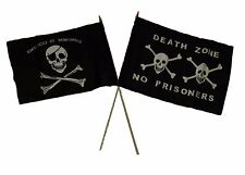 "12x18 12""x18"" Wholesale Combo Pirate Commitment & Death Zone Stick Flag"