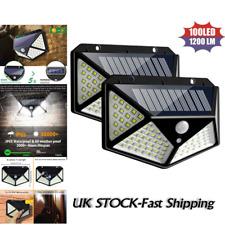 100LED Solar Power Light PIR Motion Sensor Security Outdoor Garden Wall Lamp