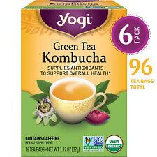 Yogi Tea - Green Tea Kombucha - Supplies Antioxidants - 6 Pack, 96 Tea Bags