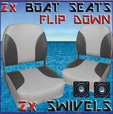 2 x Flip Up Padded Boat Seats with Swivels Quintrex Replacement Runabouts Seat