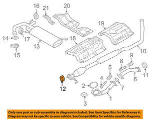 SUZUKI OEM 07-13 SX4 2.0L-L4 Exhaust-Muffler & Pipe Mount 1428180JA0