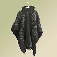 black llama wool mens unisex hooded poncho pullover jacket  damen jacken capes ponchos c 1_6 #10