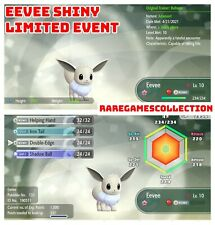 Pokemon Let's Go Pikachu Eevee ✨ SHINY ✨ 6 IV EEVEE LIMITED EVENT FAST TRADE