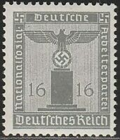 Stamp Germany Official Mi 151 Sc S8 1938 WWII Dienst War Era Franchise MNH