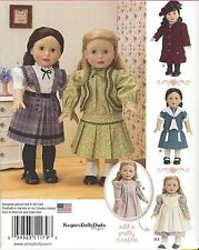 """18"""" Girl DOLL Old-Fashioned Clothes Simplicity 1179 American Sewing Pattern 2015"""