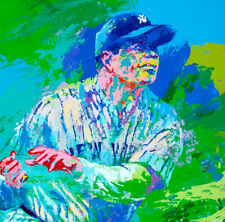 """Babe Ruth NEW YORK Yankees LeRoy Neiman signed REPRINT POSTER 11""""x14"""""""