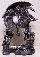 Clock Medieval Dragons Dark Times table shelf fireplace mantel desk NEW