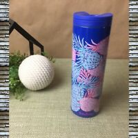 Lilly Pulitzer Travel Mug Water Bottle Coffee Cup Hot/Cold Pineapple Gypset 18oz