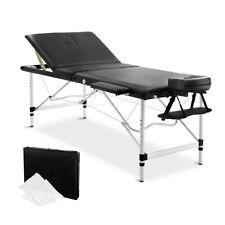 New Portable 3 Fold Adjustable Massage Table Chair Bed Aluminium Frame Black 75c