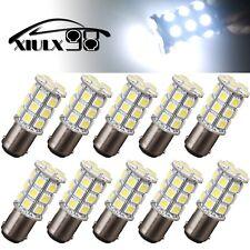 10 Pcs Ultra White BA15D 27-SMD 5050 LED Light bulbs Boat Camper RV Light 194