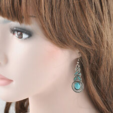 Cool Classical Natural New Turquoise Cute Silver Hook Drop Earrings Jewelry