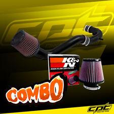 08-12 Honda Accord 4cyl 2.4L Black Cold Air Intake + K&N Air Filter