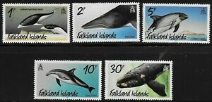 Falkland Islands 2021 QEII Whales and Dolphins - SS to 30p - MNH