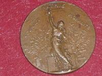 [Coll.J. DOMARD SPORTS] RARE! MEDAILLE BRONZE USGF XVe FETE FEDERALE 1889 Paris