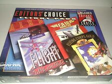 PC Gamers Editors Choice Flight Pack 4 Games Sims Win 95/98 CD Rom
