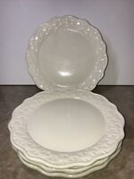 """Home & Garden Party Stoneware Collection basketweave 10.5""""Dinner Plate(set of 4)"""
