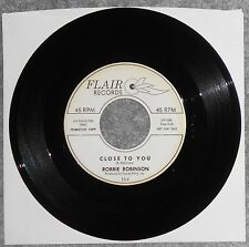 ROBBIE ROBINSON - Close To You & Just A Little More Time, 1962 Promo, Doowop, EX