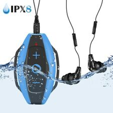 Agptek Waterproof Wearable Mp3 Player 8Gb with Earphone for Swimming Sport Blue