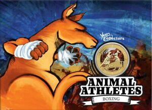 * Australia 1 dollar 2012 Kangaroo * Series 'Animal Athletes' * Al-Br Unc Card