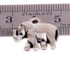 10 x SILVER Plated ELEPHANT Charm Finding Jewellery Making Crafts Pendants