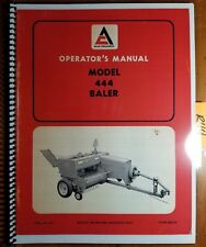 Allis-Chalmers 444 Baler Owner's Operator's Manual 565218