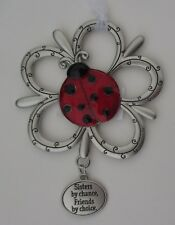 u Sisters by chance friends by choice Loving Little Ladybugs Ornament ladybug