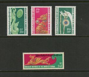 G638 Burma / Myanmar 1978 Précieux Bijoux 4v. MNH