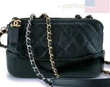 Chanel Black Gabrielle WOC Double Zip Clutch Wallet on Chain Bag 62915