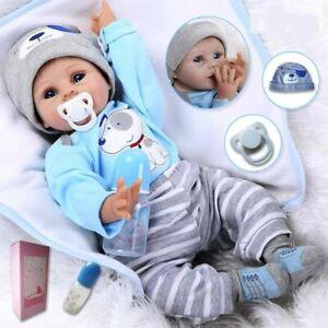 """22"""" Reborn Baby Dolls Vinyl Soft Silicone Newborn Boy Doll Realistic Gifts Toy"""