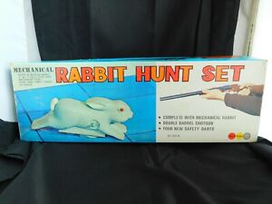 VINTAGE BOXED CLOCKWORK RABBIT GAME - MARX