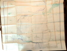 1920's Folding Map NORTHERN ALBERTA Engraved at the Chief Geographer's Office