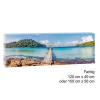 Steg  Panoramabild Keilrahmen Leinwand Poster Modern Design XXL 150 cm*50 cm 484