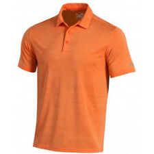 UNDER ARMOUR GOLF MENS ELEVATED HEATHER POLO SHIRT MANDARIN ORANGE SIZE: M 18372
