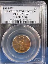 1994-W $5 WORLD CUP GOLD PCGS MS 69