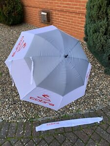 "Cobra 68"" Double Canopy Golf Umbrella - Brand New With Sleeve"
