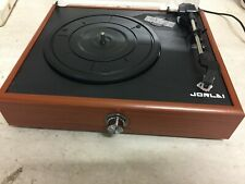 Jorlai Mini Stereo Turntable 3 Speed Record Player With Built-In Speakers