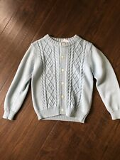 toddler girl clothes 4t winter Babeeni Sweater Soft Blue Button Up